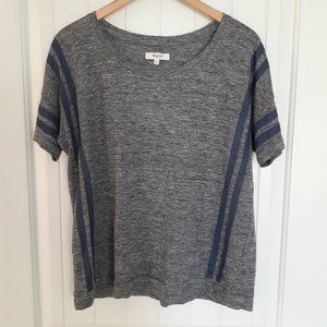 Madewell Banded In Court Stripe Voyage Blue Gray